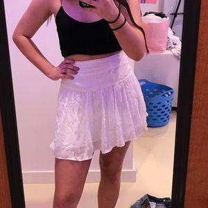 white mini skirt